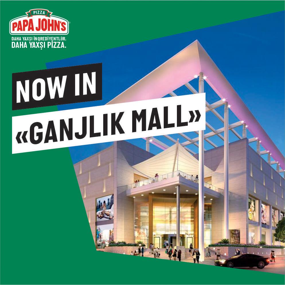 New Papa John's Restaurant in Genclik Mall