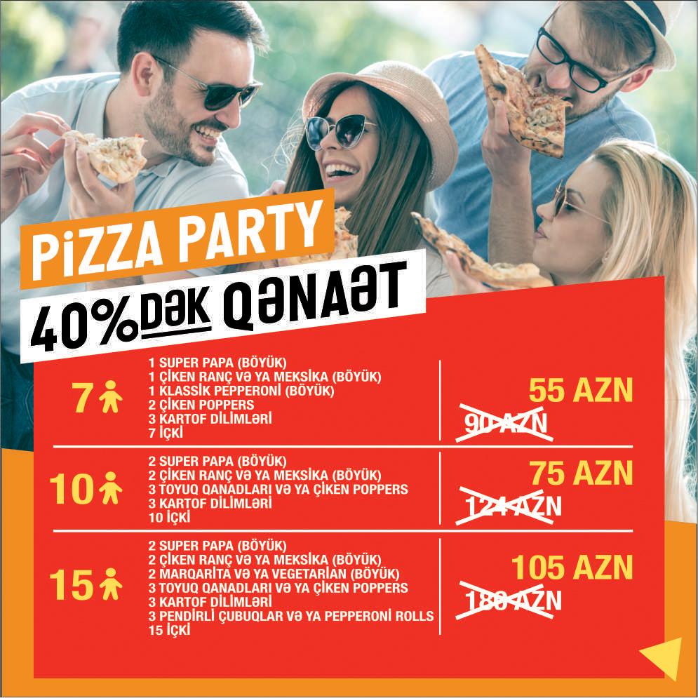Pizza Party, Yeddi nəfərlik